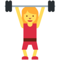 Woman Lifting Weights on Twitter Twemoji 2.3