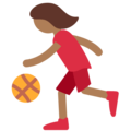 Woman Bouncing Ball: Medium-Dark Skin Tone on Twitter Twemoji 2.3