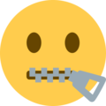 Zipper-Mouth Face on Twitter Twemoji 2.3