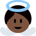 Baby Angel: Dark Skin Tone on Twitter Twemoji 2.4