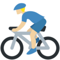 Person Biking: Medium-Light Skin Tone on Twitter Twemoji 2.4
