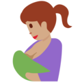 Breast-Feeding: Medium Skin Tone on Twitter Twemoji 2.4