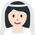 Bride With Veil: Light Skin Tone on Twitter Twemoji 2.4
