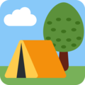 Camping on Twitter Twemoji 2.4