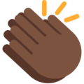 Clapping Hands: Dark Skin Tone on Twitter Twemoji 2.4