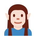 Elf: Light Skin Tone on Twitter Twemoji 2.4