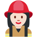 Woman Firefighter: Light Skin Tone on Twitter Twemoji 2.4