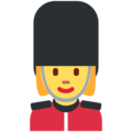Woman Guard on Twitter Twemoji 2.4