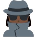 Woman Detective: Dark Skin Tone on Twitter Twemoji 2.4