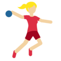Person Playing Handball: Medium-Light Skin Tone on Twitter Twemoji 2.4