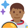 Man Astronaut: Medium-Dark Skin Tone on Twitter Twemoji 2.4