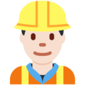 Man Construction Worker: Light Skin Tone on Twitter Twemoji 2.4