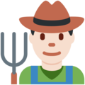 Man Farmer: Light Skin Tone on Twitter Twemoji 2.4