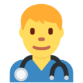 Man Health Worker on Twitter Twemoji 2.4