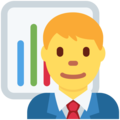 Man Office Worker on Twitter Twemoji 2.4