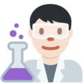 Man Scientist: Light Skin Tone on Twitter Twemoji 2.4