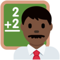 Man Teacher: Dark Skin Tone on Twitter Twemoji 2.4