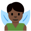 Man Fairy: Dark Skin Tone on Twitter Twemoji 2.4