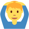 Man Gesturing OK on Twitter Twemoji 2.4