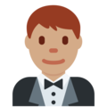 Man in Tuxedo: Medium Skin Tone on Twitter Twemoji 2.4