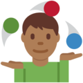 Man Juggling: Medium-Dark Skin Tone on Twitter Twemoji 2.4