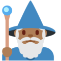 Man Mage: Medium-Dark Skin Tone on Twitter Twemoji 2.4