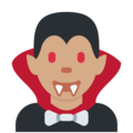 Man Vampire: Medium Skin Tone on Twitter Twemoji 2.4