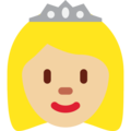 Princess: Medium-Light Skin Tone on Twitter Twemoji 2.4