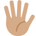 Hand With Fingers Splayed: Medium Skin Tone on Twitter Twemoji 2.4