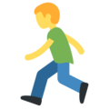 Person Running on Twitter Twemoji 2.4