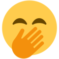Face With Hand Over Mouth on Twitter Twemoji 2.4