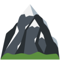 Snow-Capped Mountain on Twitter Twemoji 2.4