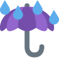 Umbrella With Rain Drops on Twitter Twemoji 2.4