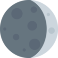 Waxing Crescent Moon on Twitter Twemoji 2.4