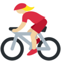 Woman Biking: Medium-Light Skin Tone on Twitter Twemoji 2.4