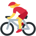 Woman Biking on Twitter Twemoji 2.4