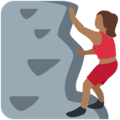 Woman Climbing: Medium-Dark Skin Tone on Twitter Twemoji 2.4