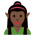 Woman Elf: Dark Skin Tone on Twitter Twemoji 2.4