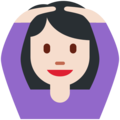Woman Gesturing OK: Light Skin Tone on Twitter Twemoji 2.4