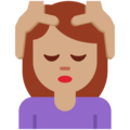 Woman Getting Massage: Medium Skin Tone on Twitter Twemoji 2.4