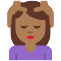 Woman Getting Massage: Medium-Dark Skin Tone on Twitter Twemoji 2.4