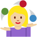 Woman Juggling: Medium-Light Skin Tone on Twitter Twemoji 2.4