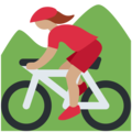 Woman Mountain Biking: Medium Skin Tone on Twitter Twemoji 2.4