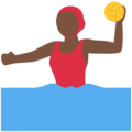 Woman Playing Water Polo: Dark Skin Tone on Twitter Twemoji 2.4