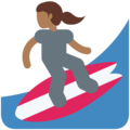 Woman Surfing: Medium-Dark Skin Tone on Twitter Twemoji 2.4