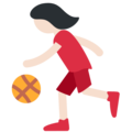Woman Bouncing Ball: Light Skin Tone on Twitter Twemoji 2.4