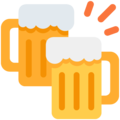 Clinking Beer Mugs on Twitter Twemoji 2.5