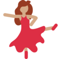 Woman Dancing: Medium Skin Tone on Twitter Twemoji 2.5