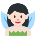 Fairy: Light Skin Tone on Twitter Twemoji 2.5