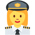 Woman Pilot on Twitter Twemoji 2.5